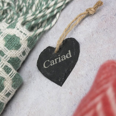 Small Cariad Slate Wall Hanger