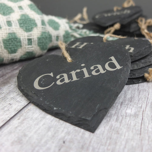 Cariad Medium Slate Heart