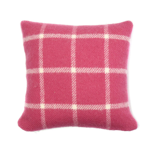 Pink Chequered Check 30x30 Cushion by Tweedmill
