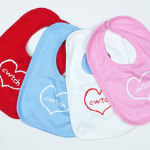 Cwtch in Heart Baby Bib in Pink