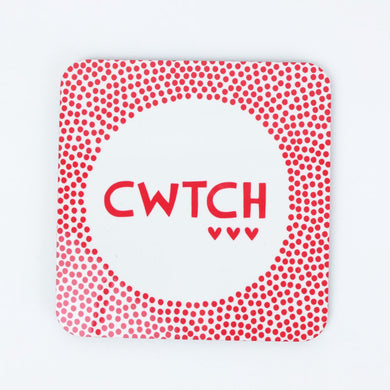 Welsh Cwtch Coaster by Sarah Morley