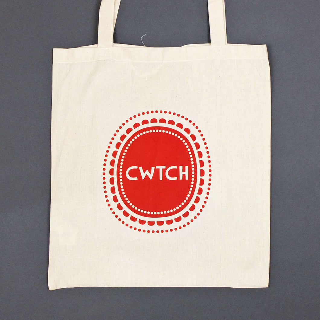 Cwtch in Dots Tote Bag