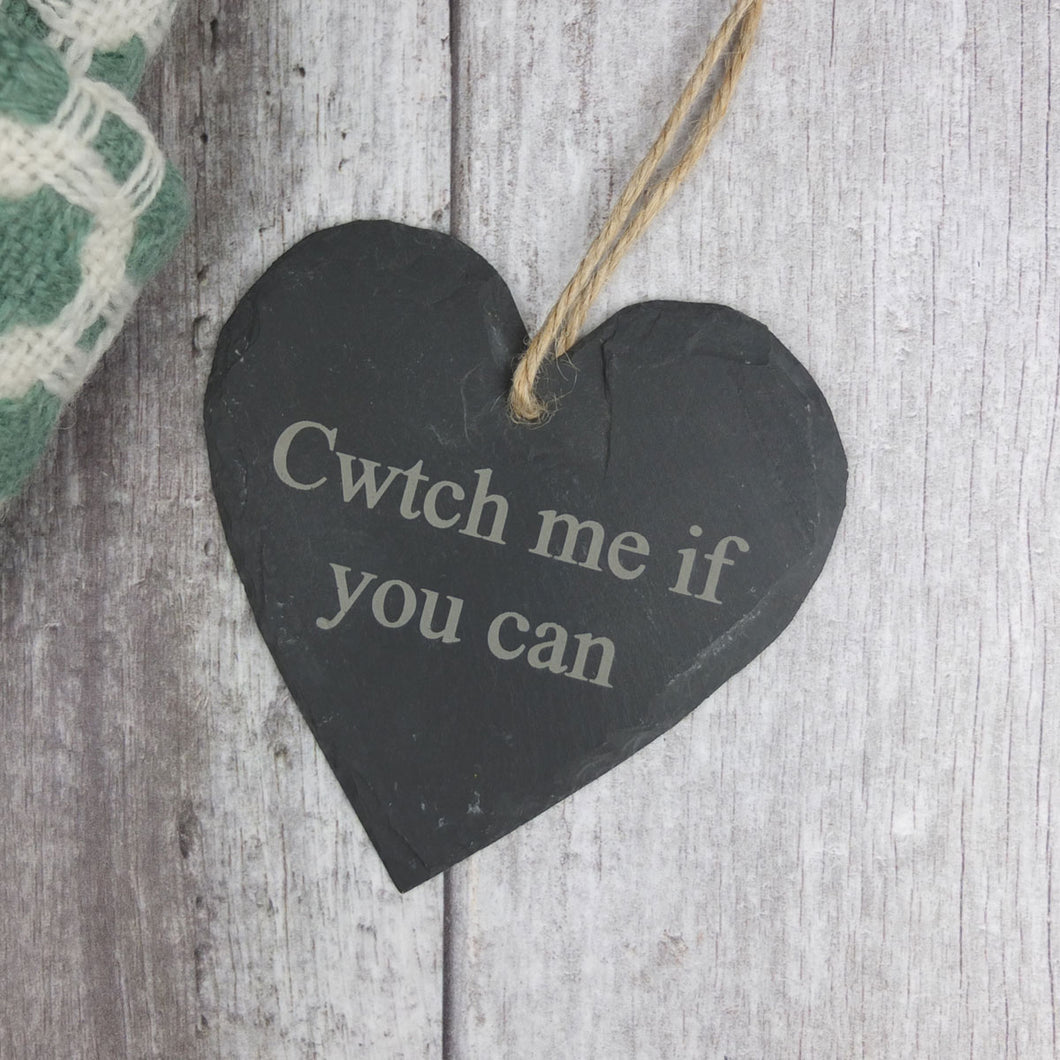 Cwtch Me If You Can Medium Slate Heart