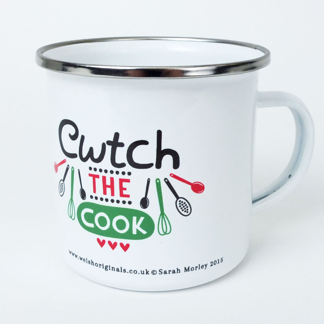 Cwtch the Cook Enamel Mug