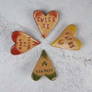 Ceramic Cwtch Me Brooch