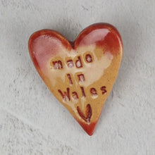Ceramic Made in Wales Red Brooch