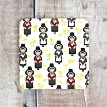 Repeated Welsh Lady pattern Coaster