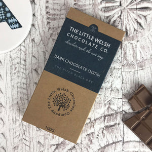 Dark Chocolate 100% by The Little Welsh Chocolate Company