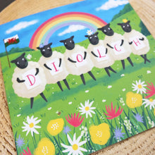 Diolch Sheep Greeting Card