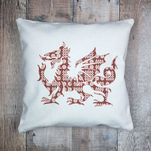 Welsh Tapestry Dragon Cushion