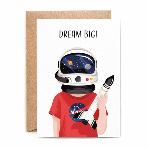 Dream Big Astronaut Card