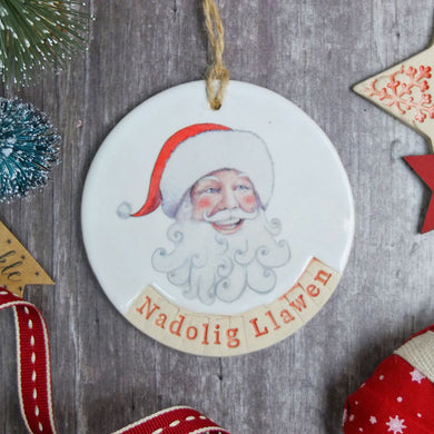 Nadolig Santa Circle Decoration