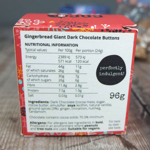 Gingerbread Dark Chocolate Giant Buttons