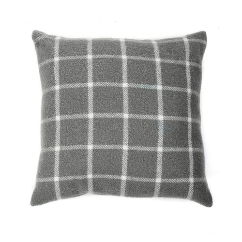 Tweedmill Grey Check Cushion
