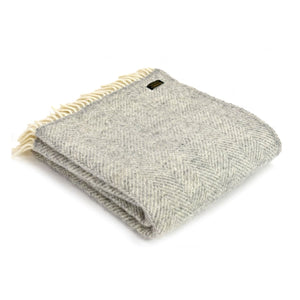 Tweedmill Grey Fishbone Throw