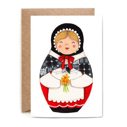 Heulwen Welsh Doll Greeting Card