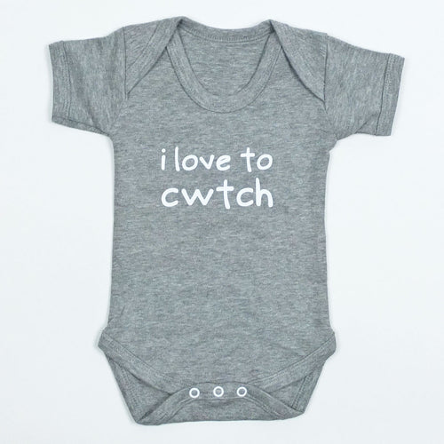 I Love to Cwtch Bodysuit in Grey