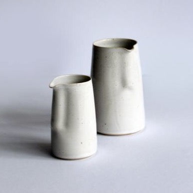 Ceramic Large White Jug by Glosters