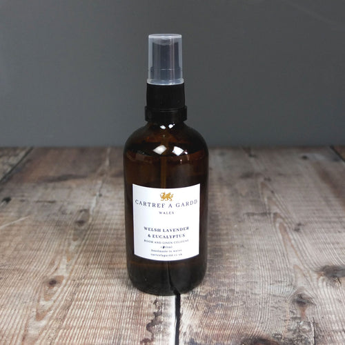 Welsh Lavender and Eucalyptus Room Spray by Cartref a Gardd