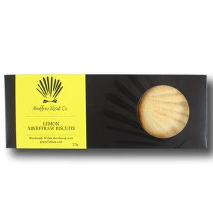 Aberffraw Luxury Lemon Shortbread Biscuits