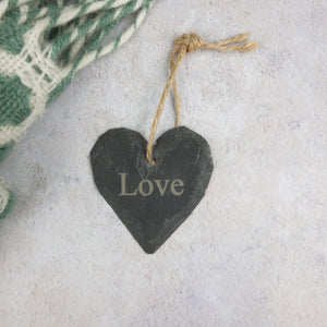 Small Slate Love Heart