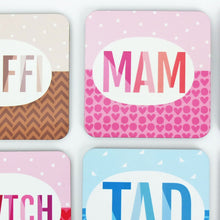Welsh Mam Coaster in Pink