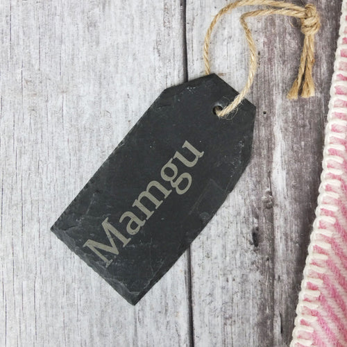 Mamgu Slate Tag Hanging Decoration