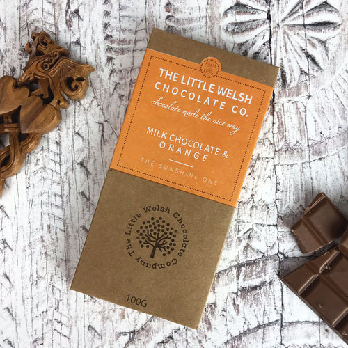 Milk Chocolate and Orange Bar by The Little Welsh Chocolate Company