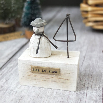 Mini Snowman Scene Decoration