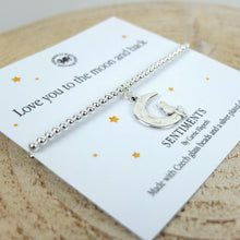 Carrie Elspeth 'Love You to the Moon and Back' Sentiment Bracelet