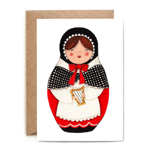 Myfanwy Welsh Doll Greeting Card