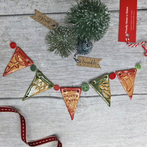 Ceramic Christmas Mini Bunting