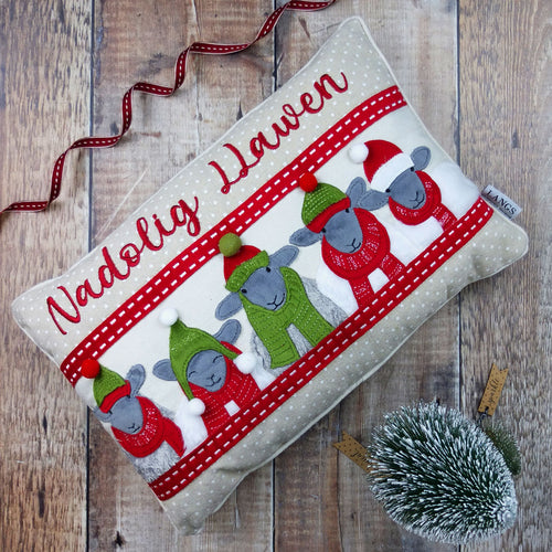 Sheep Christmas Cushion