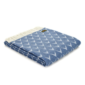 Tweedmill Penrhos Blue Merino Throw