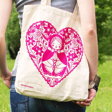 Pink Welsh Doll Tote Bag