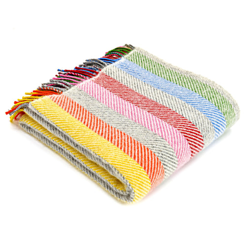 Tweedmill Rainbow Stripe Welsh Throw