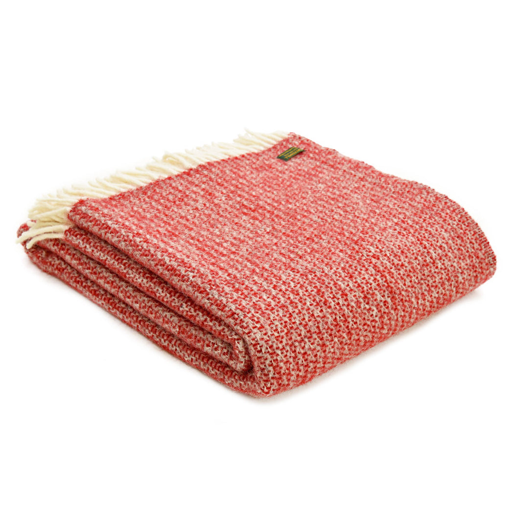 Tweedmill Red and Silver Illusion Throw