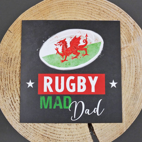 Rugby Mad Dad Greeting Card