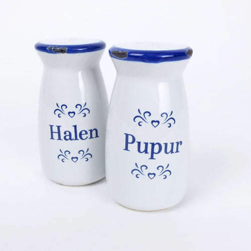 Salt and Pepper Pots - Halen a Pupur