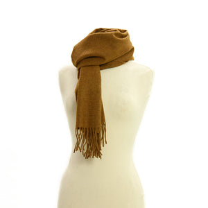 Old Gold Plain Scarf by Tweedmill