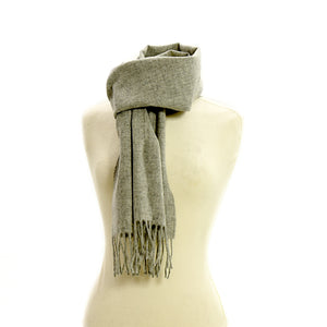 Light Grey Plain Scarf by Tweedmill