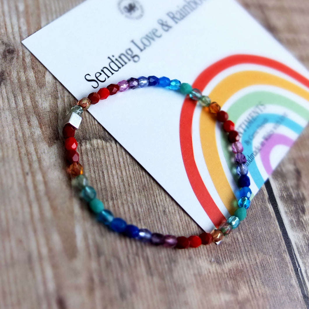 Love and Rainbows Sentiment Bracelet by Carrie Elspeth