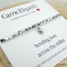 Carrie Elspeth 'Sending Love Across the Miles' Sentiment Bracelet