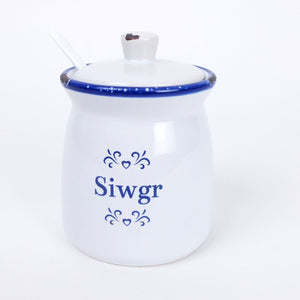 Sugar Pot with Spoon