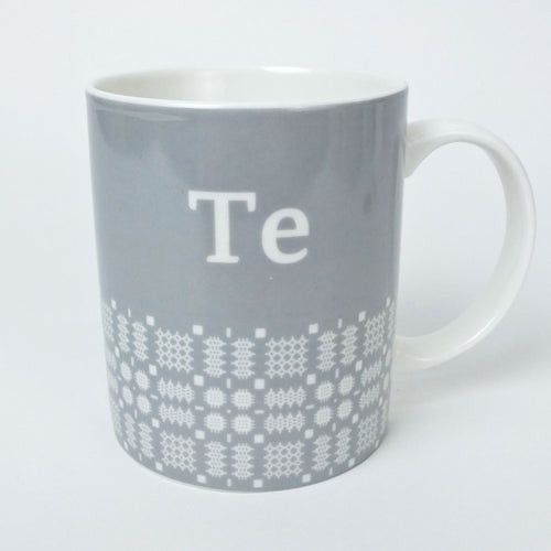 Welsh Te Mug with Tapestry Pattern