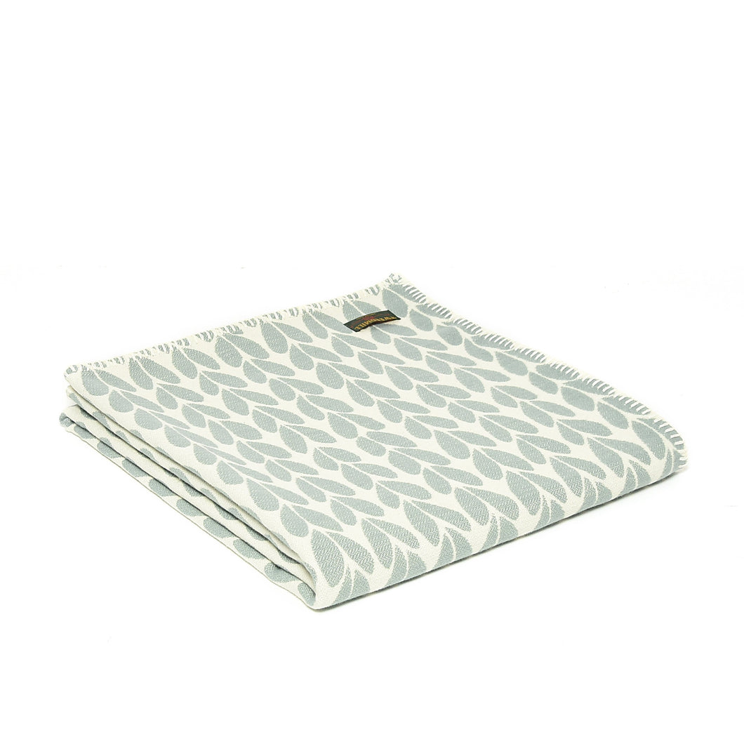 Duck Egg Sycamore Throw by Tweedmill