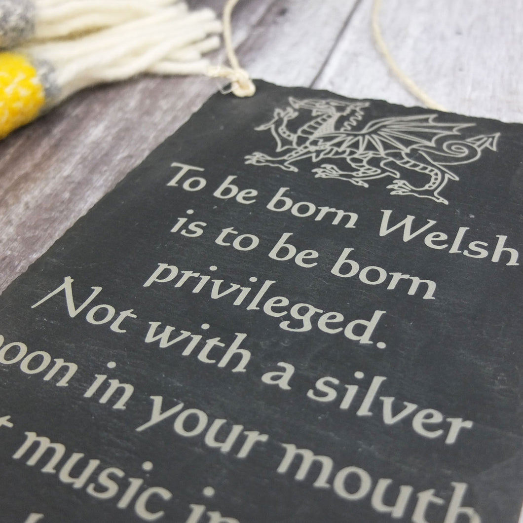 To Be Born Welsh Slate Wall Hanging