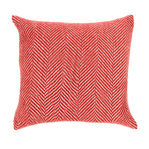 Tweedmill Wool Cushion in Red