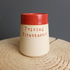 Twisted Fire Starter Match Pot