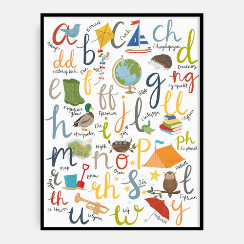 Earthy Tones Welsh Alphabet Print